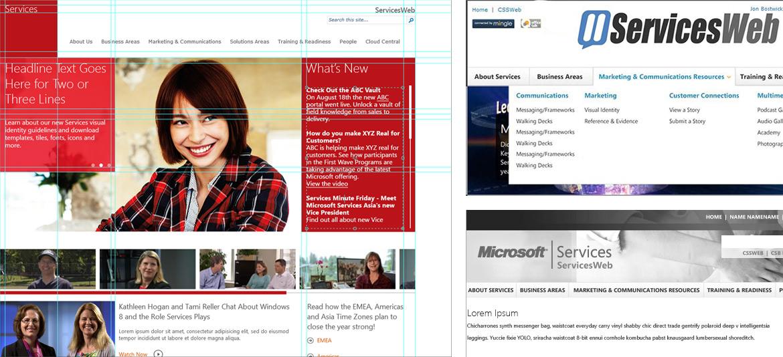 ServicesWeb in Microsoft Services
